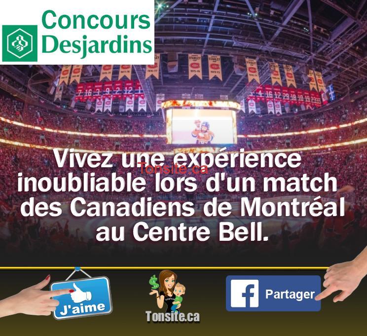 Concours Desjardins: Gagnez 2 billets pour un match des Canadiens de Montréal