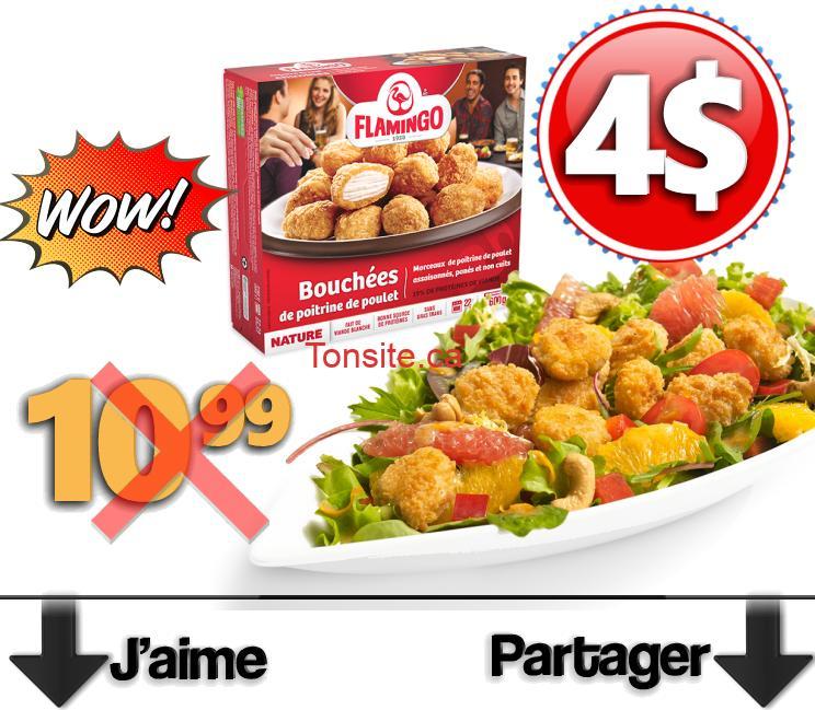 Bouchées de poitrine de poulet pané Flamingo à 4$ au lieu de 10,99$