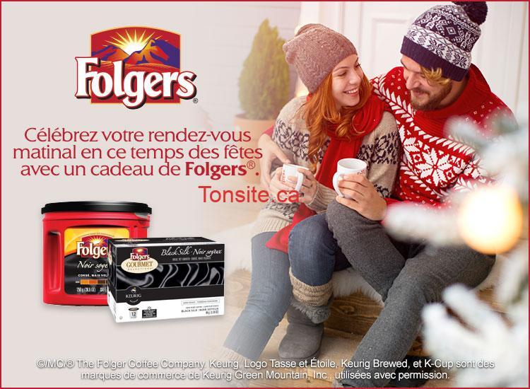 Coupon rabais de 3$ sur le café moulu FOLGERS 750 - 975 g ou de 12, 18 ou 30 capsules K-Cup FOLGERS