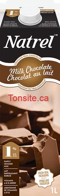 Lait au chocolat noir, chocolat au lait, à l'érable ou Caramel Latté Natrel (1L) à 75¢ au lieu de 3.39$