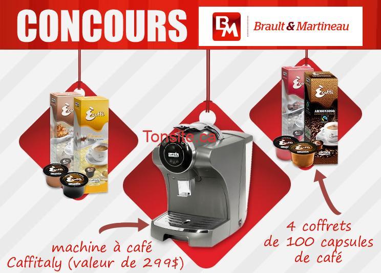 concours brault martineau gagnez une machine caf de. Black Bedroom Furniture Sets. Home Design Ideas
