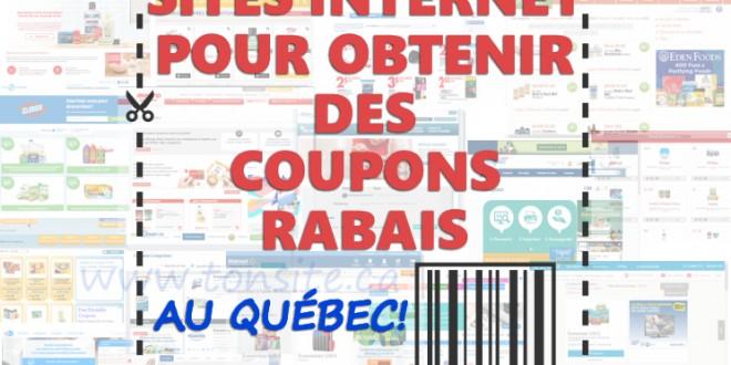 Sites internet pour obtenir des coupons rabais au Québec