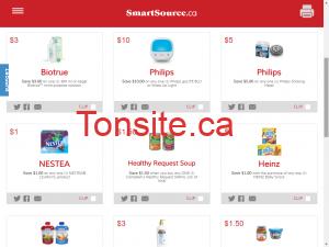 smartsource screenshot e1453918280871 - Sites internet pour obtenir des coupons rabais au Québec