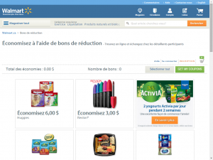 walmart screenshot e1453917285285 - Sites internet pour obtenir des coupons rabais au Québec