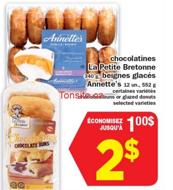 Emballage de 12 beignes glacés Annette's ou 6 chocolatines La Petite Bretonne à 2$ seulement!