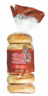 Muffins anglais ou bagels Vieux Moulin (6 unités) à 99¢ seulement