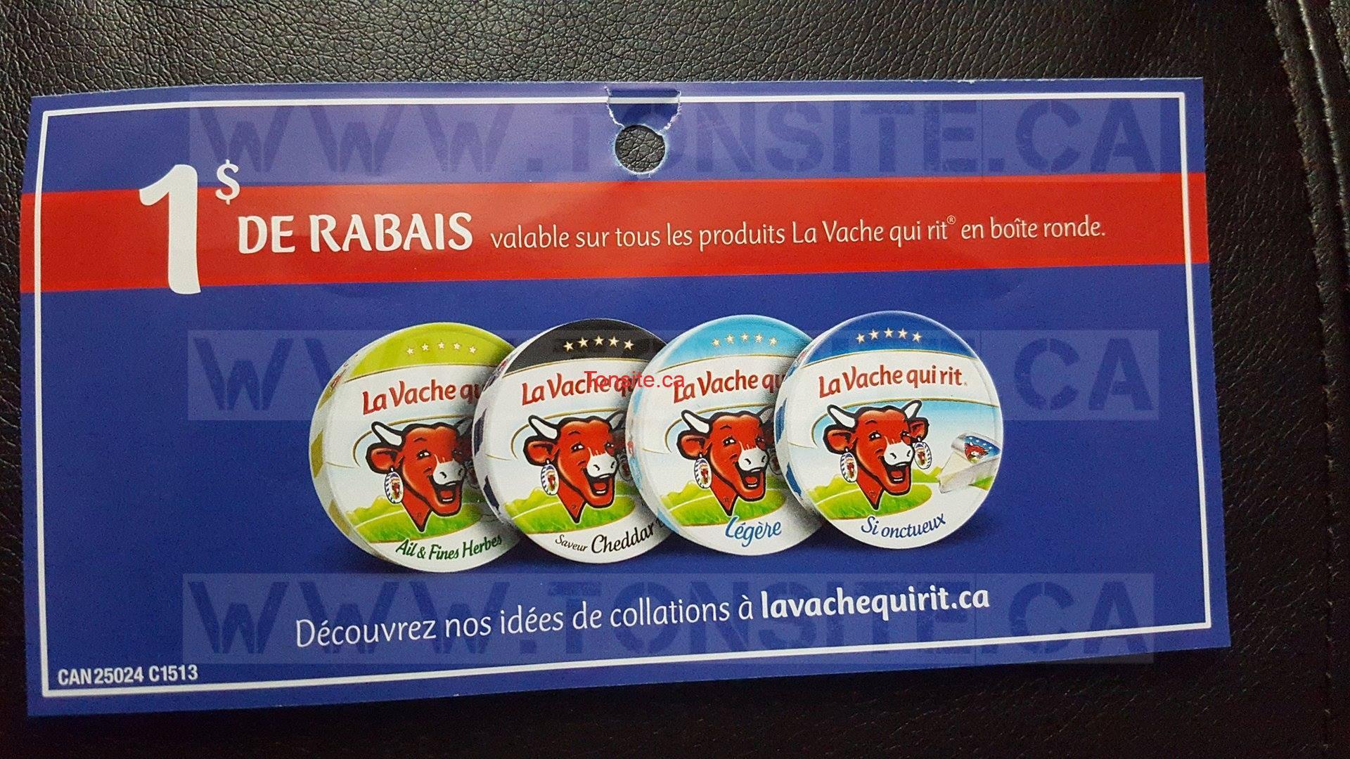 lavache qui rit coupon - Boîte ronde La Vache Qui Rit (8 portions) à 1$ seulement