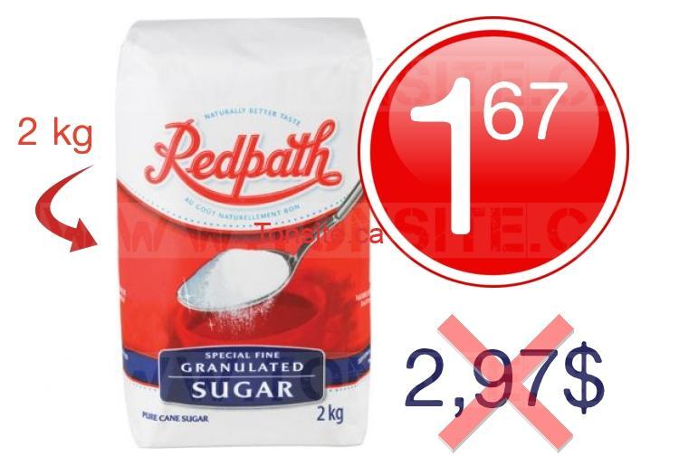 Sucre granul redpath 2 kg 1 67 au lieu de 2 97 for Chambre de sucre coupon code