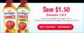 Coupon rabais de 1,50$ sur un produit SunRype Tomango de 1,36L