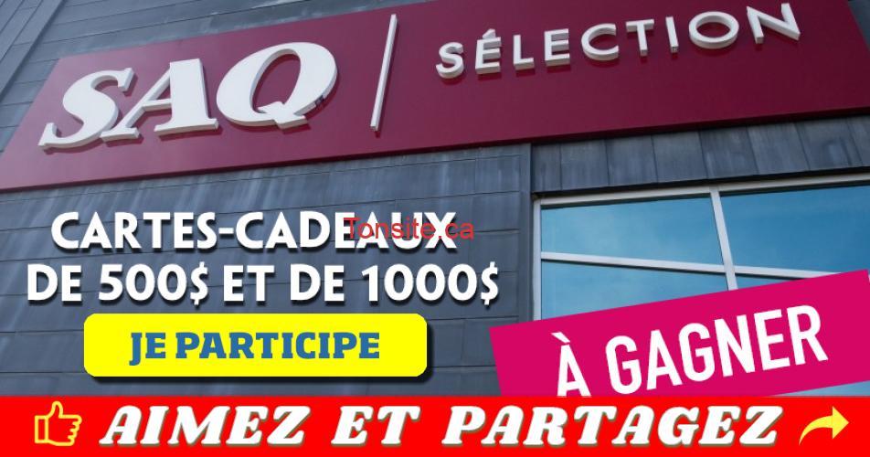 SAQ concours01 - Concours Saq: Cartes-cadeaux SAQ de 500$ et 1000$ à gagner!