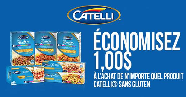 Coupon rabais Catelli Sans Gluten