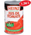Jus de tomate Heinz (1,36 L) à 1,33$ au lieu de 2,59$