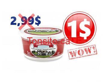 Tartinade Lactantia à 1$ au lieu de 2.99$