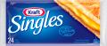 Fromage en tranches Singles de Kraft à 1,50$ au lieu 5,99$