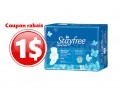 Coupon rabais de 1$ sur tout emballage de serviettes Stayfree