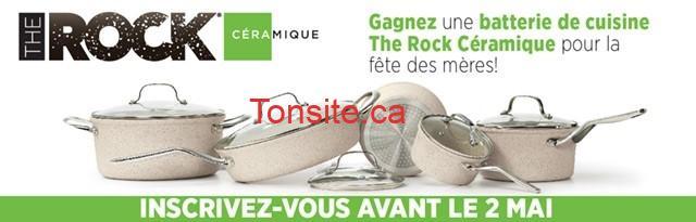 Concours Maman pour la vie: Gagnez une batterie de cuisine The Rock Céramique pour la fête des Mères!