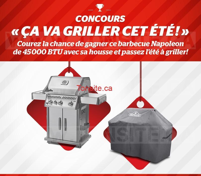 Concours Brault & Martineau: Gagnez un barbecue Napoleon de 45000 BTU avec sa housse