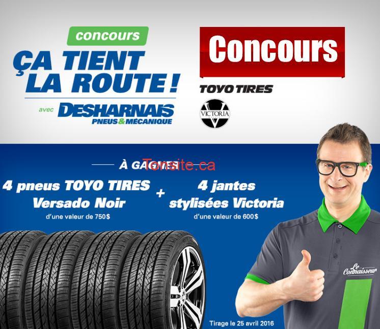 Concours Desharnais: Gagnez 4 pneus Toyo et 4 jantes Victoria (valeur totale 1350$)