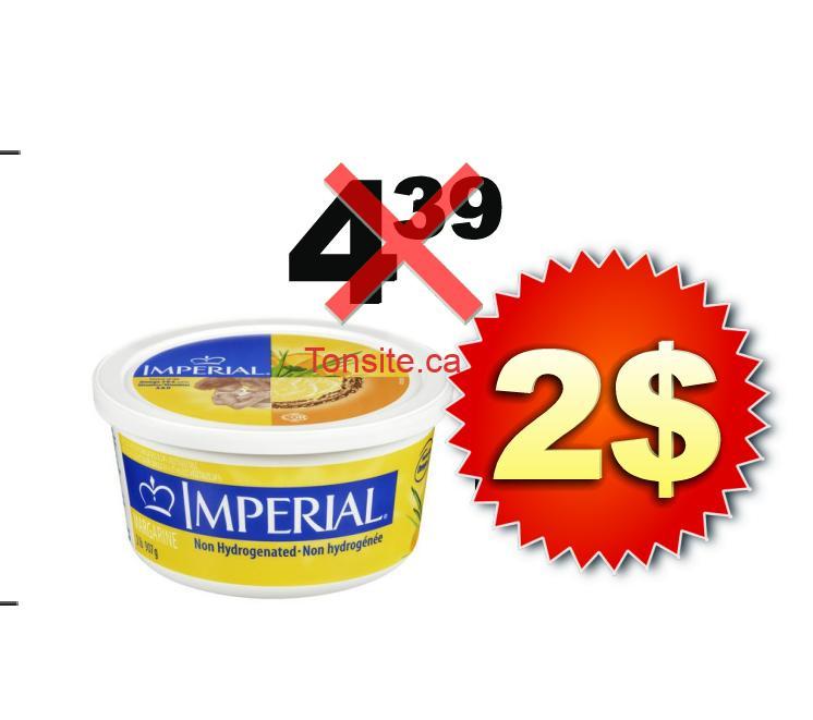 Margarine Imperial (gros format) à 2$ au lieu de 4.39$