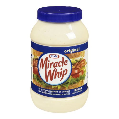 Miracle Whip ou Mayonnaise Kraft (890 mL) à 2,77$ au lieu de 5,37$