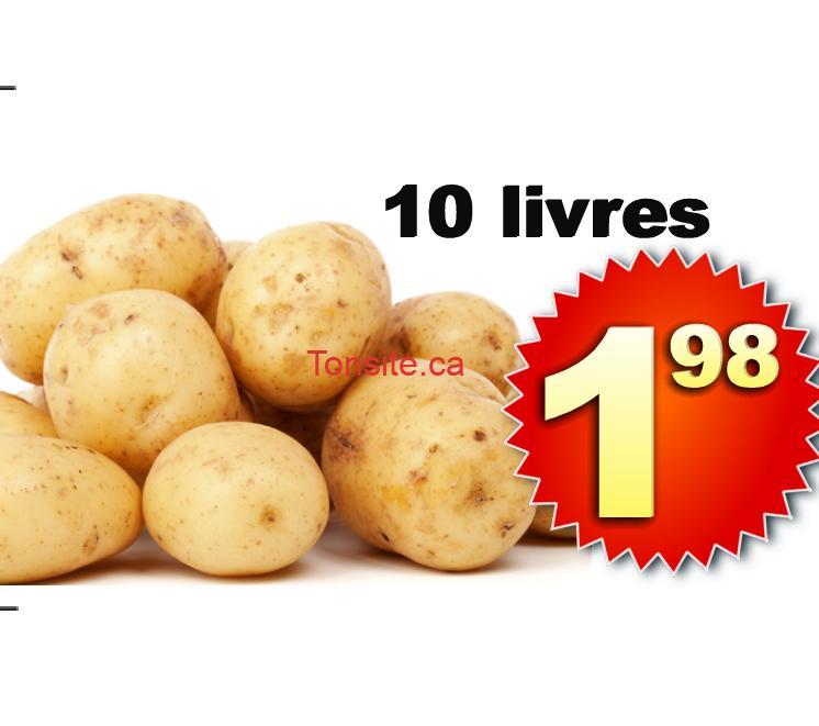 Sac de pommes de terre Russet (10 livres) à 1,98$ seulement!