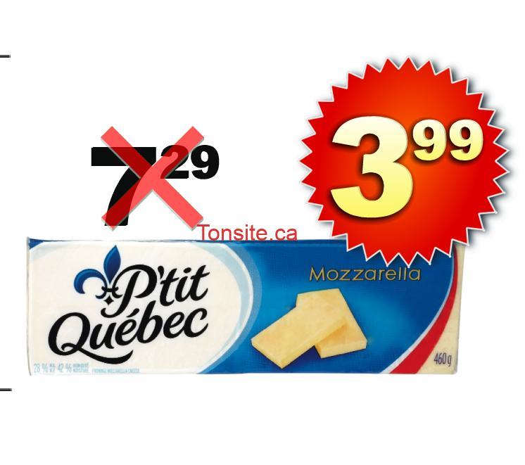 Barre de fromage P'tit Québec à 3,99$ au lieu de 7,29$