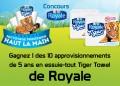 Concours Royale: Gagnez 1 des 10 approvisionnements de 5 ans en essuie-tout Tiger Towel de Royale