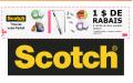 Coupon rabais de 1$ sur deux produits Scotch