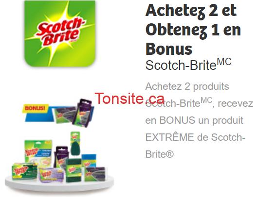 Coupon rabais: Achetez 2 produits Scotch-Brite, recevez en BONUS un produit EXTRÊME de Scotch-Brite