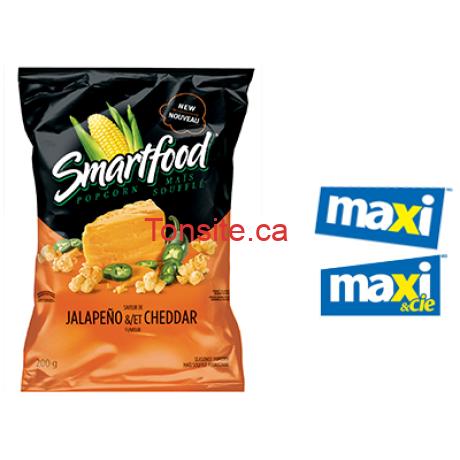 Coupon rabais de 2$ sur 2 sacs de maïs soufflé Smartfood (170 g – 220 g, saveur au choix).