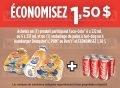 Coupon rabais de 1,50$ sur un produit Coca-Cola et un emballage de pains à hot-dog ou à hamburger Dempster, Pom ou Ben's