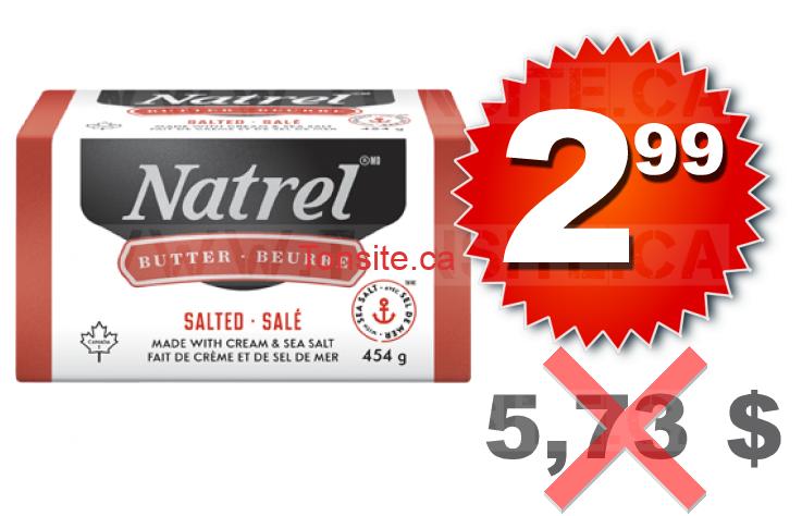Beurre sal natrel 454 g 2 99 au lieu de 5 73 for Beurre en special cette semaine