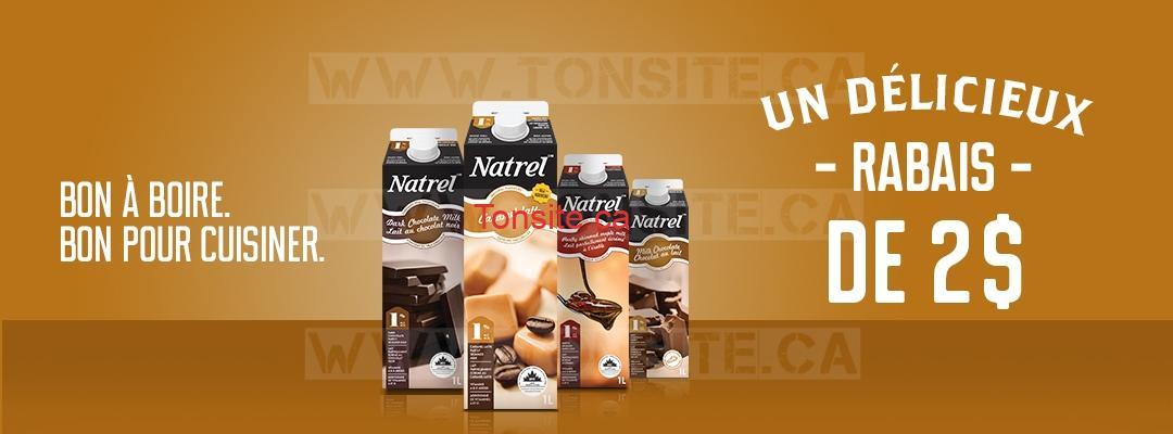 Coupon rabais de 2$ sur le lait aromatisé Natrel en format de 1L
