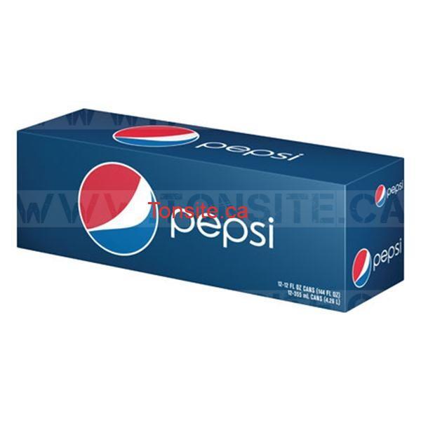 pepsi canettes1 - Emballage de 15 canettes de Coca-Cola ou Pepsi à 3,69$ au lieu de 6,49$