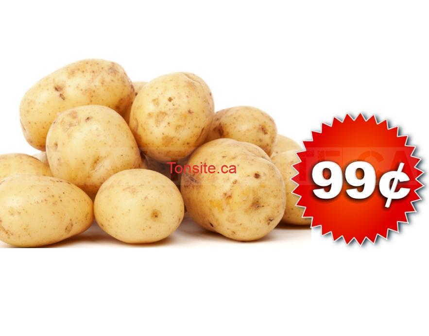 Sac de pommes de terre (5 livres) à 99¢ seulement!