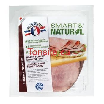 Emballage de charcuteries Olymel Smart&Natural à 2,98$ au lieu de 5,27$