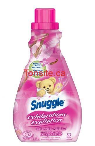 Obtenez un assouplissant Textile Snuggle GRATUIT + 1$ dans vos poches