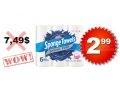 Emballage de 6 rouleaux d'essuie-tout Sponge Towel à 2.99$ seulement au lieu de 7.49$