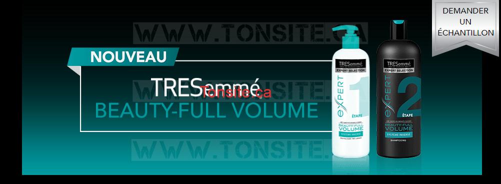 GRATUIT: Obtenez des échantillons gratuits des produits TRESemmé Beauty-Full Volume