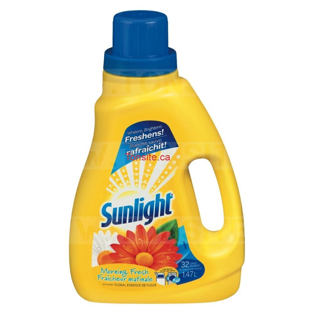 Détergent à lessive Sunlight (32 brassées) à 2,49$ au lieu de 5,99$