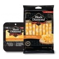 Coupon rabais de 1$ sur un emballage au choix de Tranches de fromage naturel (260 g - 280 g) ou de Bâtonnets de fromage naturel 252 g Black Diamond
