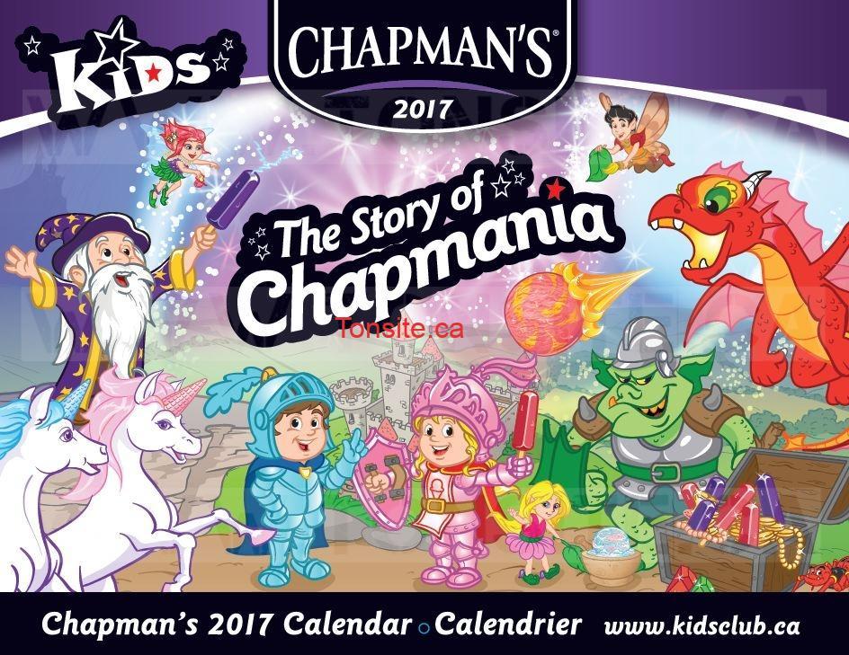 Obtenez un calendrier 2017 Chapman's GRATUIT