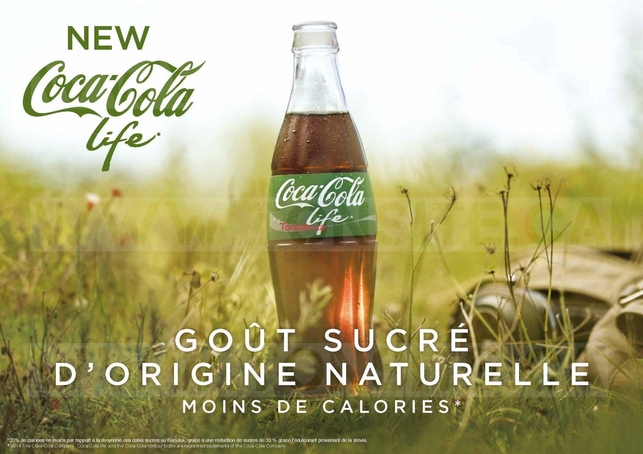 GRATUIT: Obtenez une bouteille Coca-Cola Life (500 mL) GRATUITE!