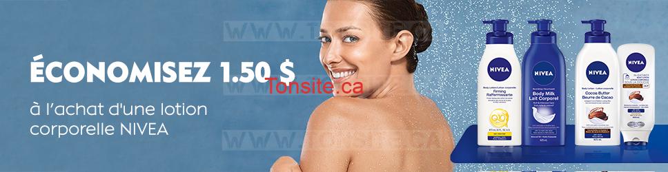 Coupon rabais de 1,50$ sur une lotion corporelle Nivea