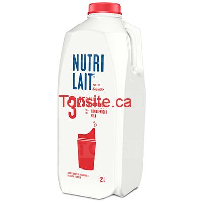Coupon rabais caché de 50¢ sur le lait Nutrilait
