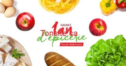 Concours Pommes Qualité Québec: Gagnez un an d'épicerie ou 1 des 10 cartes-cadeaux de 200$