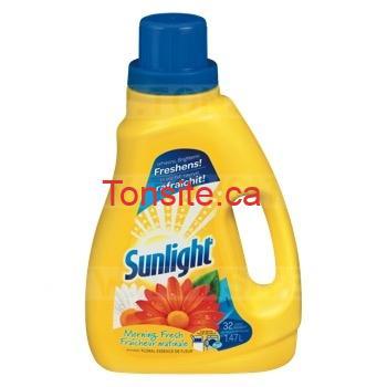 Détergent à lessive liquide 2x concentré Sunlight 32 brassées à 2,99$ au lieu de 5,59$