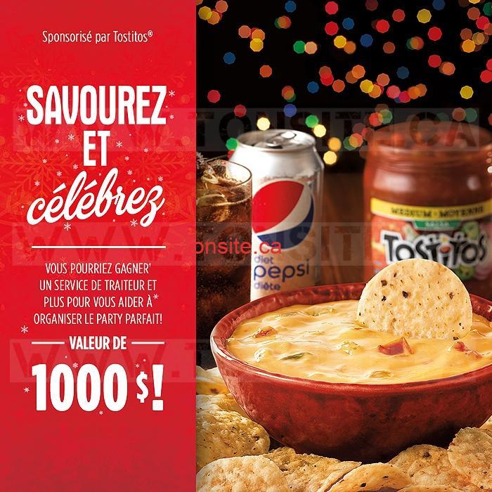 Concours PepsiCo: Gagnez un service de traiteur et plus pour vous aider à organiser le party parfait! (valeur de 1000$)