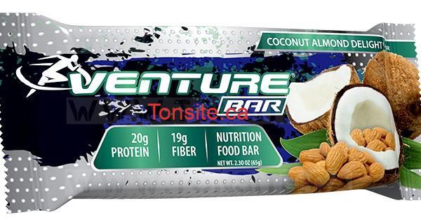 GRATUIT: Obtenez une barre nutritif Venture GRATUITEMENT!