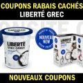 Coupons rabais sur les produits Liberté Grec